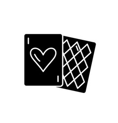 card games black icon sign on isolated vector image