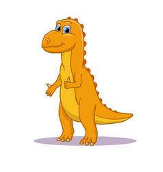 Cartoon cute little baby dinosaur colorful vector