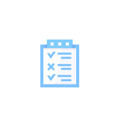 checklist survey icon vector image