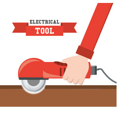 circular saw tool to repair service vector image