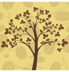 Coffee tree vector image