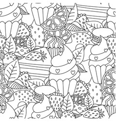 coloring book hand drawn outline artwork page vector image