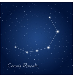 Corona Borealis constellation vector