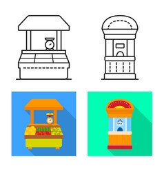 Design amusement and store icon set of vector