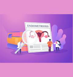 endometriosis concept vector image