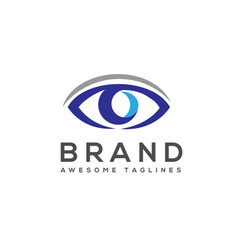 eye care logo template vector image