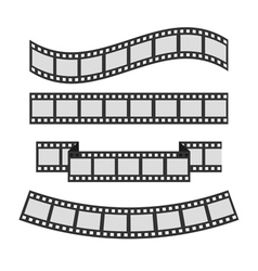 Film strip frame set Different shape ribbon vector
