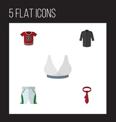 Flat icon clothes set of trunks cloth cravat t vector
