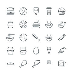 Food Cool Icons 1 vector