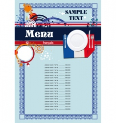 french menu vector image