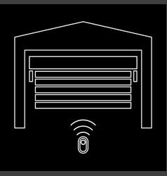 garage door the white path icon vector image