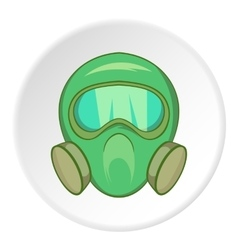 Gas mask icon cartoon style vector image