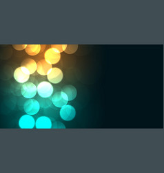 glowing colors bokeh shiny background design vector image