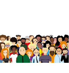 Group diverse people vector
