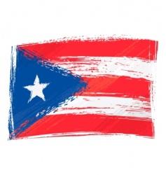 Grunge Puerto Rico flag vector