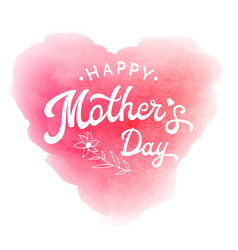 happy mothers day card with flower and lettering vector image