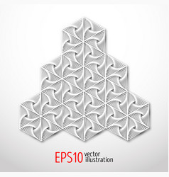 hexagonal 3d design made in paper style sacral vector image
