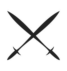 History lance tool two crossed ancient spears flat vector image