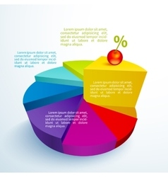 Infographics bright circle segments vector image