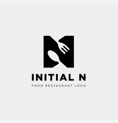 Initial n food equipment simple logo template vector