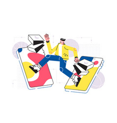 man doing online shopping vector image