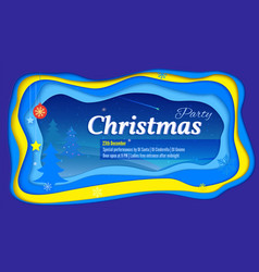 Merry christmas party poster with lettering and a vector