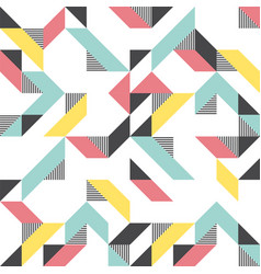 Modern background with triangles and lines vector
