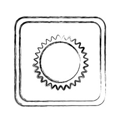 Monochrome blurred square frame with sun close up vector