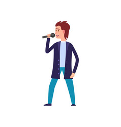 music performance singer wearing suit isolated vector image