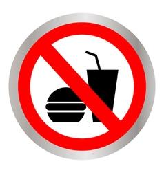 No food allowed symbol vector