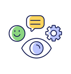 Observation skills rgb color icon vector