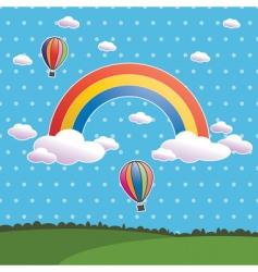polka dot rainbow vector image
