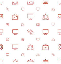 presentation icons pattern seamless white vector image