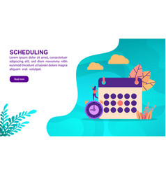 scheduling concept with character template for vector image