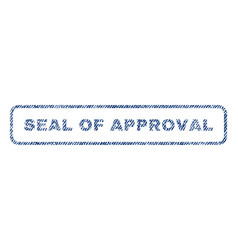 Seal of approval textile stamp vector
