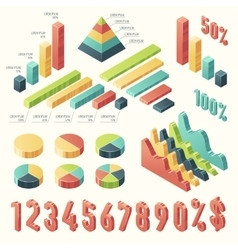 Set 3d infographic Template presentation Isometric vector image