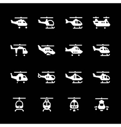 Set icons of helicopters vector image
