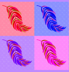 set of flat isolated abstract colored curved vector image