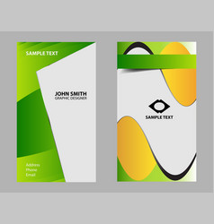 set of two business cards vector image