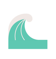 Simple wave surf and sea related flat icon vector