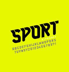 Sport style font design alphabet letters vector