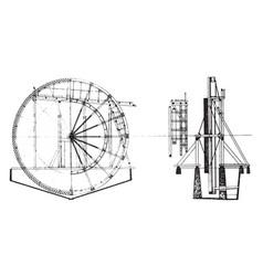 Tailings wheel vintage vector