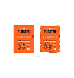 Template label for interior plaster packaging vector
