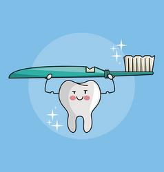 tooth funny cartoon vector image