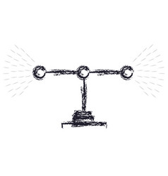 transmission antenna icon in monochrome blurred vector image