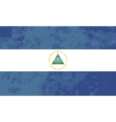 True proportions Nicaragua flag with texture vector