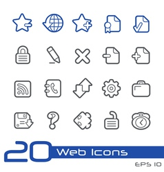 Web Icons Outline Series vector image
