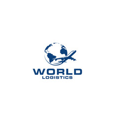 world logistics vector image