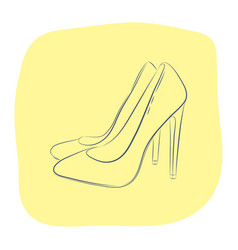 elegant women s high-heeled shoes fashion vector image vector image