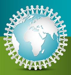 People Around the World People Around Globe Paper vector image